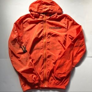 Anti Social Club Neon Orange Windbreaker - XL